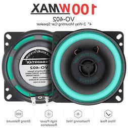 4 Inch 100W 2 Way Car Door HiFi Audio Music Stereo Coaxial S