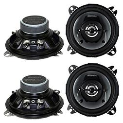 "4) New Kenwood KFC-1065S 4"" 420 Watt 2-Way Car Audio Coaxial"