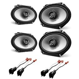 4 New Kenwood KFC-C6865S 6x8 500 Watt 2-Way Car Audio Coaxia