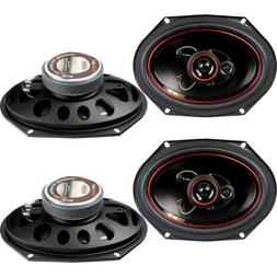 "4) Kenwood KFC-C6865S 6x8"" 500 Watt 2-Way Car Audio Coaxial"