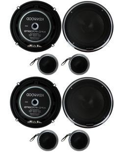 "4) New Kenwood KFC-P709PS 6.5"" 560W Car Audio Component Spea"