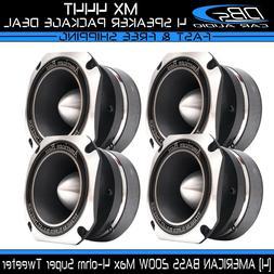 4 American Bass MX 444T Aluminum Super Loud Tweeter 800W 4 o