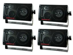 4) NEW PYRAMID 2060 600W 3-Way Car Audio Mini Box Speakers S