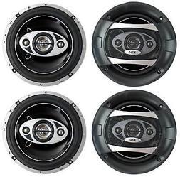 "4) NEW BOSS AUDIO P65.4C 6.5"" 4-Way 400W Car Audio Coaxial S"