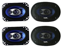 "Pyle PL463BL 4x6"" 240W 3 Way Coaxial Car Speakers Stereo Blu"