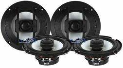 """4) New Boss Riot R63 6.5"""" 600W RMS 3 Way Car Audio Coaxial S"""