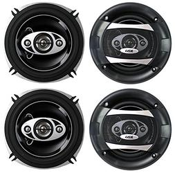 "4) BOSS P55.4C 5.25"" 600W 4-Way Car Coaxial Audio Speakers S"