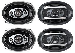 "4) NEW BOSS AUDIO P694C 6x9"" 4-Way 800W Car Coaxial Stereo S"