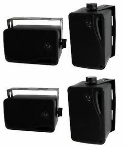 Pyle PLMR24B 3.5 Inch 3 Way Weatherproof Marine Audio Speake
