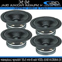 "4 American Bass SQ 5C 5.25"" Midrange Pro Car Audio Loud Spea"