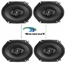 """4 PIONEER TS-A6880F 6 x 8"""" 4-WAY CAR AUDIO COAXIAL SPEAKERS"""