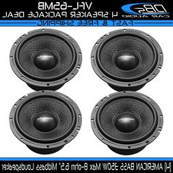 "4 American Bass VFL-65MB 6.5"" Car Audio Midbass Loud Speaker"