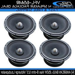"4 American Bass VFL-65MR 6.5"" Car Audio Midrange Loud Speake"