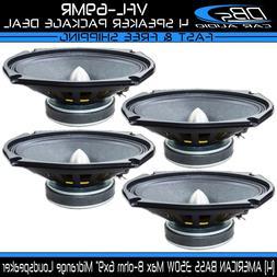 "4 American Bass VFL-69MR 6x9"" Car Audio Midrange Loud Speake"