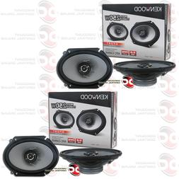 "4 x KENWOOD KFC-C6866S 6x8"" 6x8-INCH 2-WAY CAR AUDIO COAXIAL"