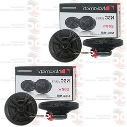 """4 x NEW NAKAMICHI CAR AUDIO 6"""" 6-INCH 2-WAY COAXIAL SPEAKERS"""