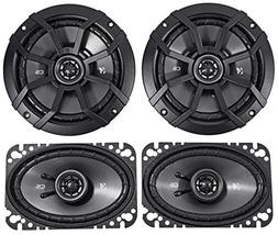 "KICKER 43CSC654 6.5"" 300w Car Audio Speakers+ 43CSC464 4x6"""
