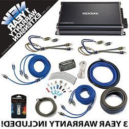 Kicker 43CXA3004 Car Audio 4 Channel Amp CXA300.4 & 4 GA Amp