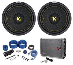 Kicker 44CWCD124 CompC 12 1200w DVC 4-Ohm Car Subs+Mono Amp