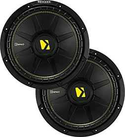 """KICKER 44CWCD84 CompC 8"""" 800w Dual 4-Ohm Car Audio Subwoofe"""