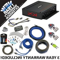 Kicker 44KXA4002 Car Audio 2 Channel Amp KXA400.2 & 4 GA Amp