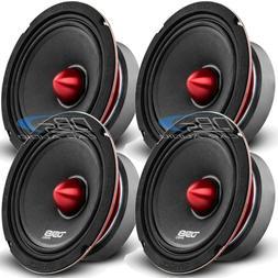 """DS18 PRO-X6.4BM Loudspeaker - 6.5"""", Midrange, Red Aluminum B"""