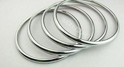 4pcs Speaker Ring Tone Decorative Circle Stickers Emblem ABS