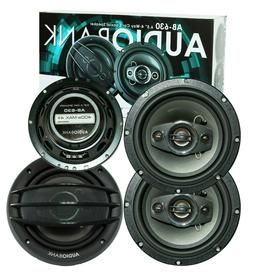 "4x Audiobank AB-630 800 Watts 6.5"" 4-Way Car Audio Stereo Co"
