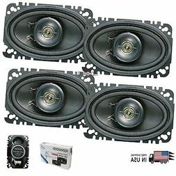 "4x KENWOOD KFC-4675C 4x6"" CAR AUDIO PPTA BALANCE-DOME 4x6"" 6"