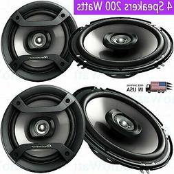 "4x Pioneer TS-F1634R 6.5"" 200 Watts 2-Way Car Audio Amplifie"