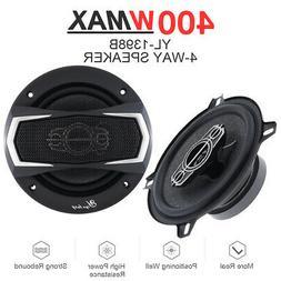 5 inch 400 Watt 4 Way Car Audio Stereo Coaxial Speakers Twee