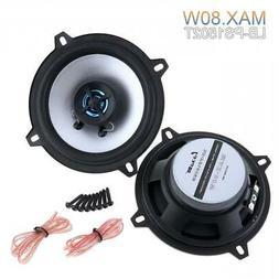 "5"" Inch 80W 2 Way Car Audio Coaxial Speakers Stereo  4OHM Au"