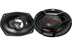 """JVC 550W 6"""" x 9"""" 4-Way Coaxial Car Stereo Speakers 