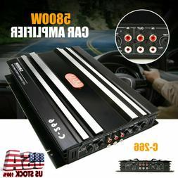 5800W Watt 4 Channel Car Truck Amplifier Stereo Audio Speake