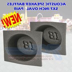 "5X7"" INCH FOAM BASS REFLEX ACOUSTIC CAR AUDIO SPEAKER BAFFLE"