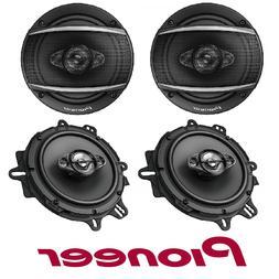 "Pioneer 6-1/2"" 4-Way 350 Watt Coaxial Car Audio Speakers TS-"