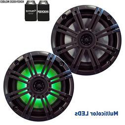 Kicker 6.5 Charcoal LED Marine Speakers  1 pair of OEM repla
