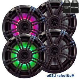 Kicker 6.5 Charcoal LED Marine Speakers  2 pairs of OEM repl