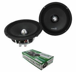 """6.5"""" Neodymium Bullet Speaker Pair 300W 4 Ohm Pro Car Audio"""