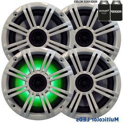 Kicker 6.5 White LED Marine Speakers  2 pairs of OEM replace