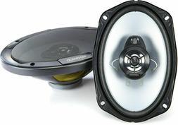 "Kenwood 6"" x 9"" 400W 3-Way Car Audio Flush Mount Coaxial Ste"