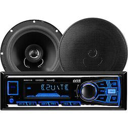 BOSS Audio 638BCK Car Stereo Package - Single Din, Bluetooth