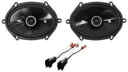 """Kicker 6x8"""" Front Factory Speaker Replacement Kit For 2004-2"""