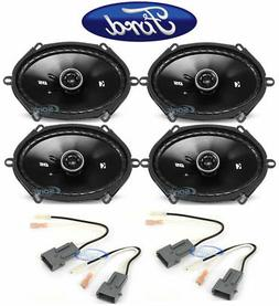 """Kicker 6x8"""" Front+Rear Car Speaker Replacement For 2004 Ford"""