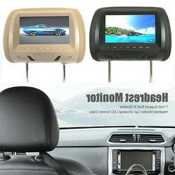 "7""Dual HD Screen Digital Car Headrest Monitor DVD Player Pil"