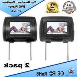 "7"" HDMI Digital Car Headrest Monitor DVD Player USB FM Speak"