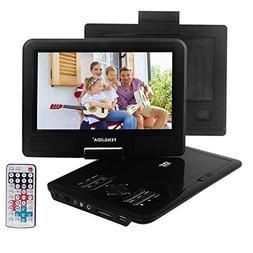 FENGJIDA 9.5'' Portable DVD Player with Headrest Mount Holde