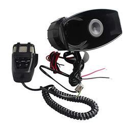 GAMPRO Car Siren Speaker,12V 80W 7 Tone Sound Car Siren Vehi