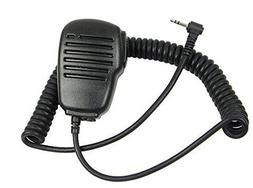 Generic 1Pin 2.5mm Black Rainproof Shoulder Remote Speaker M