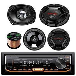 JVC KDX330BTS Single-DIN AM/FM USB AUX Car Stereo Receiver B